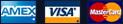 AMEX, VISA, Master Card